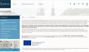 ETP SLOVAKIA IN PARTNERSHIP WITH KOŠICE MUNICIPALITY OFFICE IS LAUNCHING A NEW WEBSITE FOR MIGRANTS!