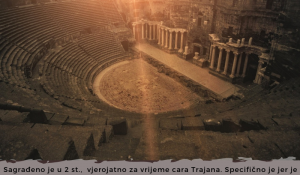 """CENTRE FOR PIECE PRESENTED AN INFOGRAPHIC """"ROMAN THEATRE IN BOSRA, SYRIA"""""""